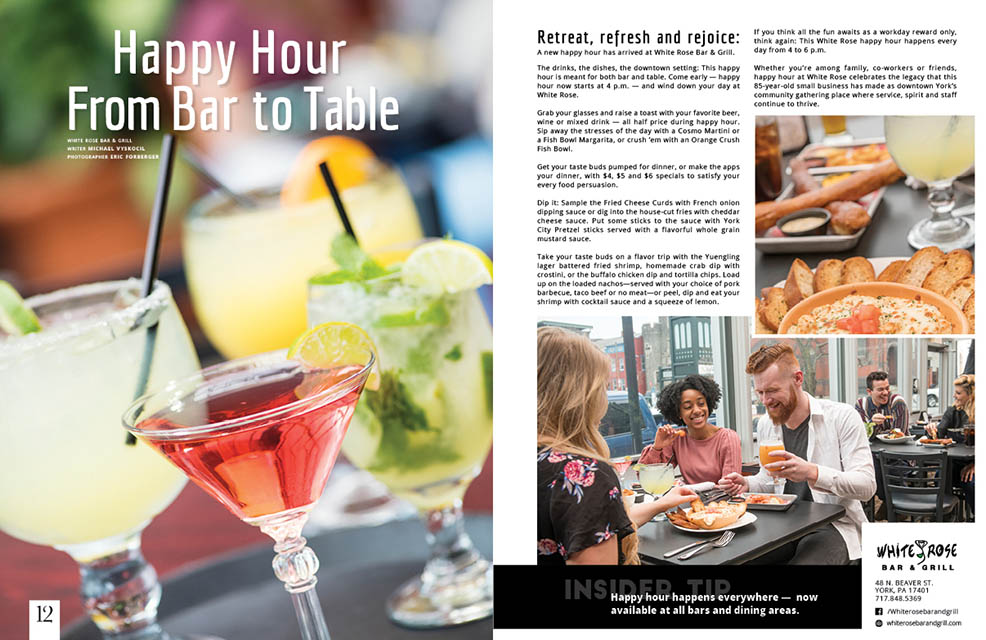 Happy Hour From Bar to Table - YRK Magazine